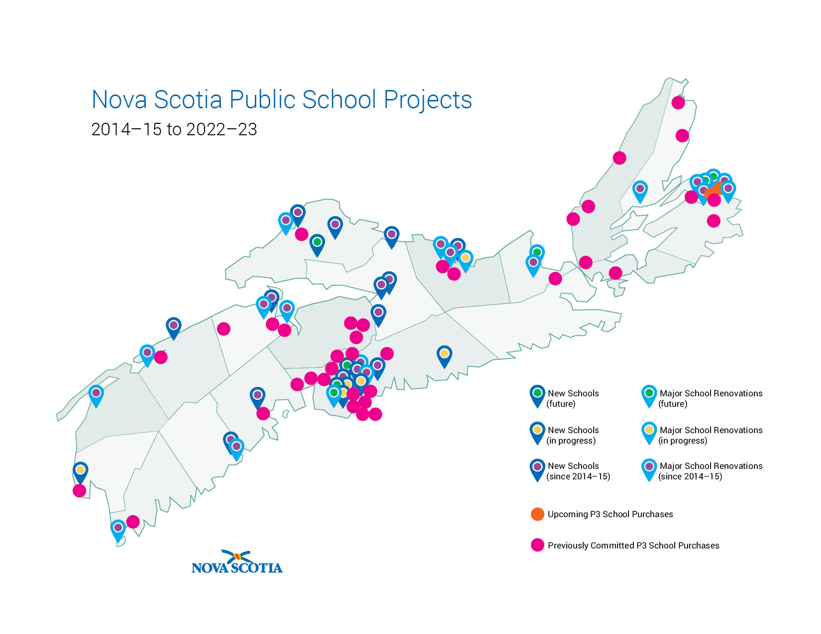 Nova Scotia Public School Projects 2014-15 to 2022-23
